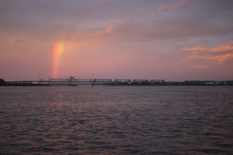 A rainbow in Fort Madison